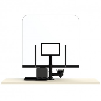Plexi-Glass με POS, ταμειακή μηχανή και Εκτυπωτή
